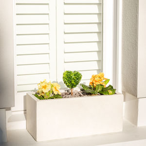 Small Window Box Planter In Miami White