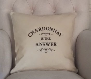 'Is The Answer' Cushion Personalised Cushion