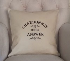 'Is The Answer' Cushion Personalised Cushion - bedroom