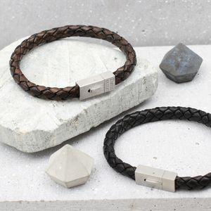 Men's Personalised Contemporary Clasp Bracelet