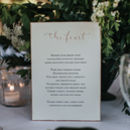 Modern Calligraphy Menu Card