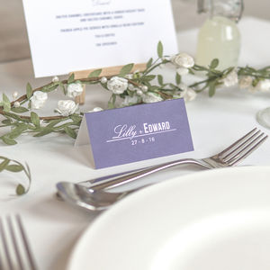 Traditional Style Wedding Place Names / Navy Blue - wedding stationery