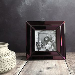 Purple Mirrored Glass Picture Frame - home accessories