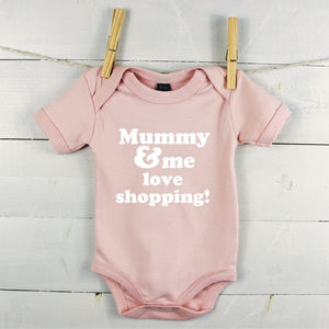 Mummy And Me Love… Personalised Babygrow