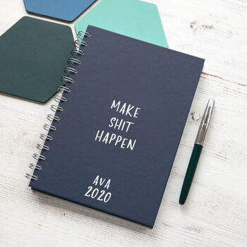 Personalised 'Make Shit Happen' Weekly Diary