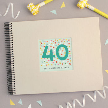 Personalised 40th Birthday Spiral Bound Book