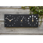 Eco Recycled Moon Phase, Outdoor Clock And Thermometer - home