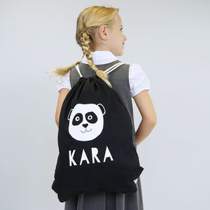 Personalised Panda Children's School Gym Bag - gifts to squirrel away for the kids