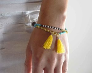 Friendship Tassel Bracelet Black