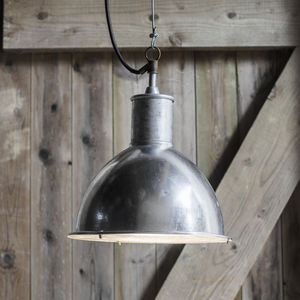 Galvanised Steel Outdoor Pendant Light