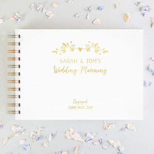 Wedding Planning Scrap Book Engagement Gift