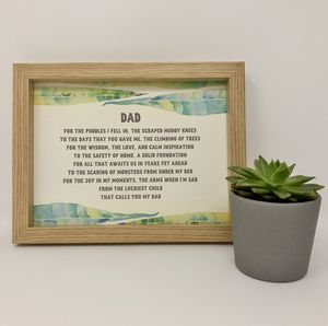 'Dad' Dad's Framed Gift Poem