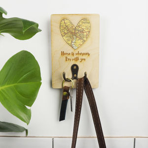 Personalised 'Home Is Wherever I'm With You' Coat Hook - hooks, pegs & clips