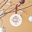 Personalised 'Santa's First Visit' Bauble
