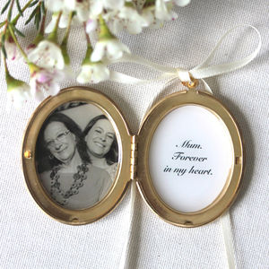 Personalised Wedding Bouquet Locket