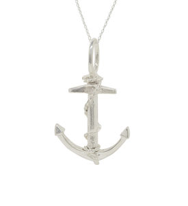 Anchor and chain pendant necklace silver or gold anchor pendant aloadofball Images