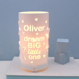 Personalised Dream Big Little One Star Night Light - children's room accessories