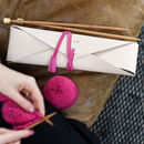 Personalised Knitting Needle Wallet With Needles