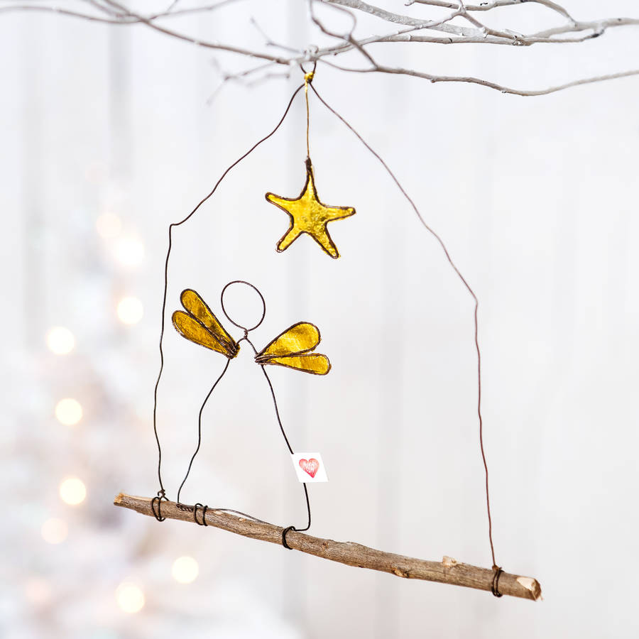 Wire angel christmas decoration by letteroom for Angel christmas decoration