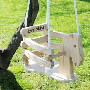 Wooden Horse Swing For Babies