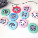 Personalised Animal Party Badges