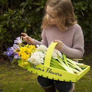 Personalised Garden Trug - 5th anniversary: wood