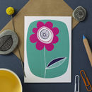 Green Flower Card