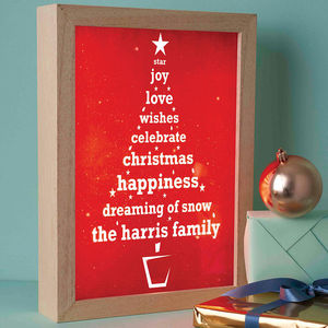 Personalised Christmas Tree Light Box - decorative lights