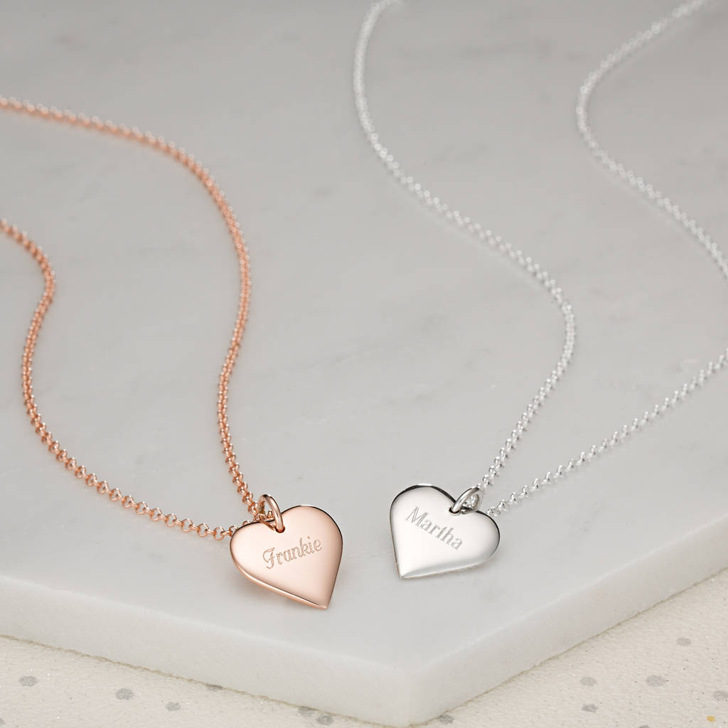 Thank you bridesmaid engraved heart necklace by lily charmed thank you bridesmaid engraved heart necklace mozeypictures Gallery