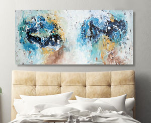 Blurred Emotions Original Large Abstract Painting - canvas prints & art