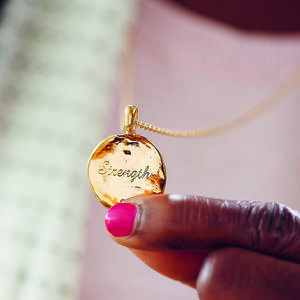 Personalised Round Treasured Pendant - necklaces & pendants