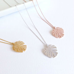 Monstera Leaf Necklace - contemporary jewellery