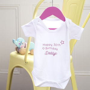 Special Message Baby Grow Short Sleeve