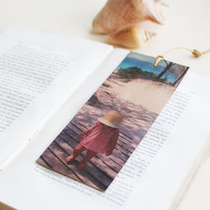 Personalised Cherished Photo Leather Bookmark - personalised gifts for grandparents