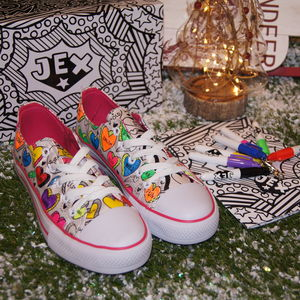 Positive Hearts Colour In Children's Shoes - creative activities