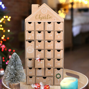 Personalised Fill Your Own House Advent Calendar