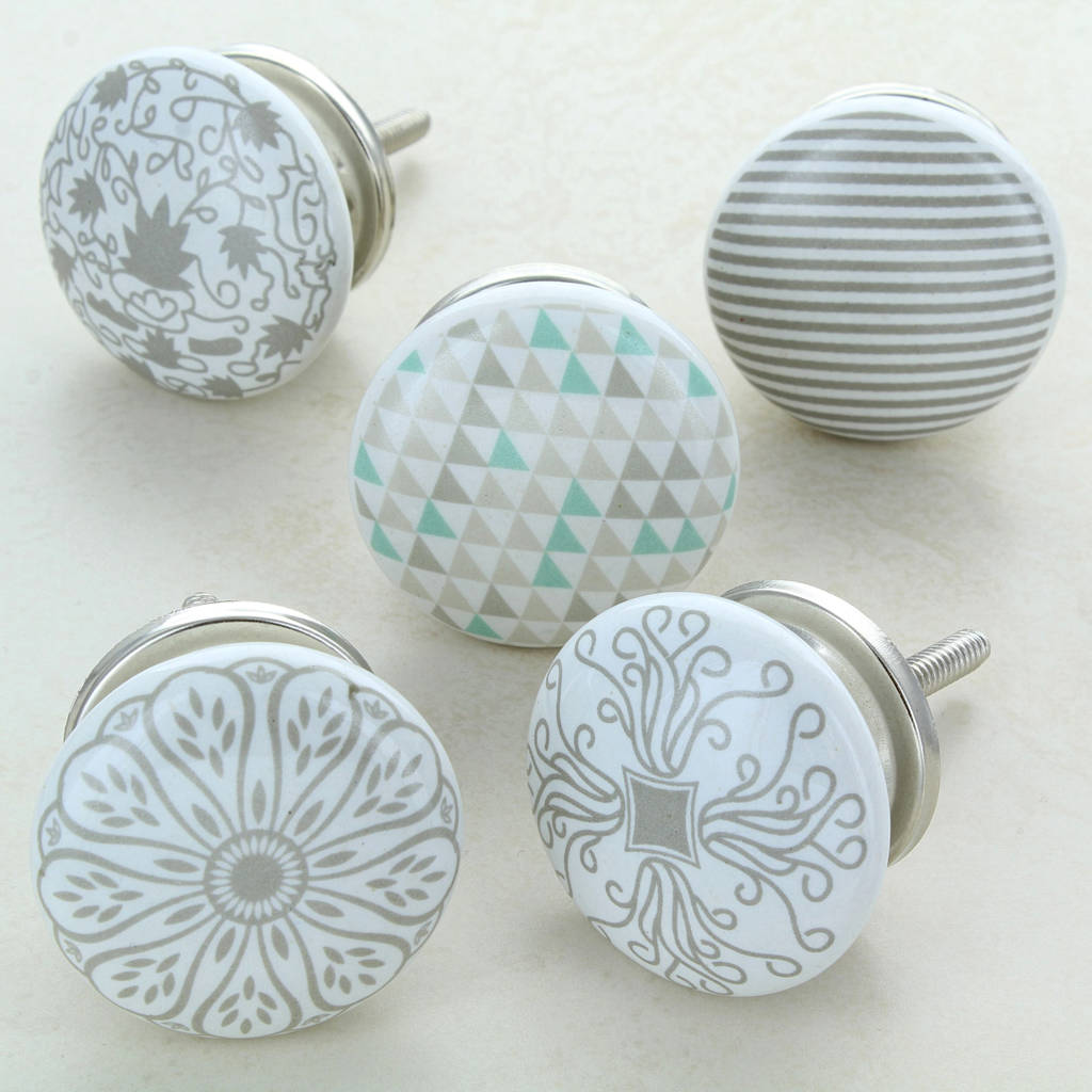 Success Ceramic Door Knobs Cupboard Drawer Door Handles  sc 1 st  Notonthehighstreet.com & success ceramic door knobs cupboard drawer door handles by g decor ...