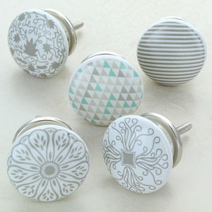 Success Ceramic Door Knobs Cupboard Drawer Door Handles - door knobs & handles