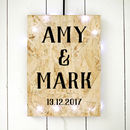 Name And Date Personalised Print On Chipboard