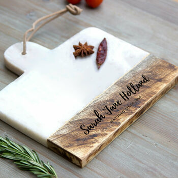 Personalised Marble And Mango 'Birthday' Cheese Board