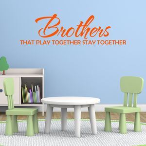 Brothers Quote Vinyl Wall Sticker - wall stickers