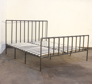 Georgina Industrial Super Kingsize Bed Frame - furniture