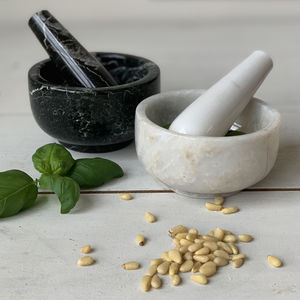 Marble Round Pestle And Mortar