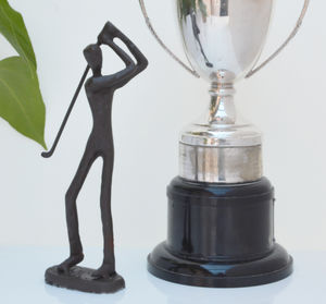 Golfer Sculpture - sculptures