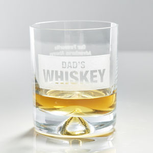 Personalised Whiskey Glass - personalised gifts