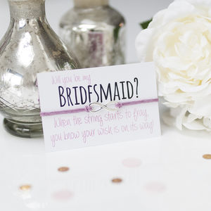 'Will You Be My Bridesmaid' Handmade Wish Bracelet