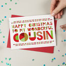 Wonderful Cousin Christmas Card