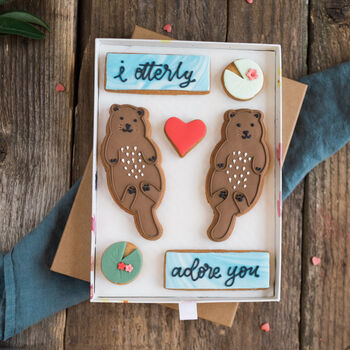 Otterly Adore You Biscuit Gift Set