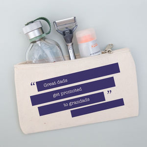 Personalised Quote Pouch For Him - wash & toiletry bags