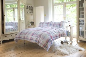 Patricia Rose Chalk Check Duvet Set